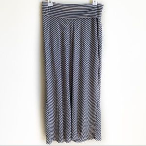 Old Navy Skirt Maxi Long Maternity Grey White S